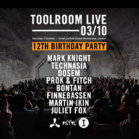 Toolroom Live 12th Birthday party, London Warehouse Rave this Saturday 3rd October