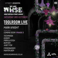 Toolroom Live returns to London for a showcase event at Great Suffolk Street Warehouse (We Are Whse series) on 3rd October